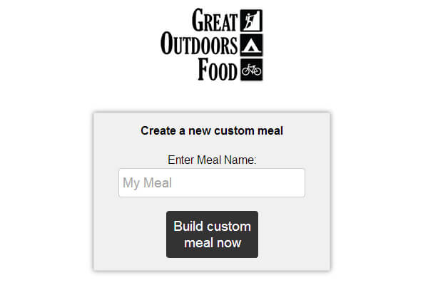 Great Outdoors Food Meal Builder Review