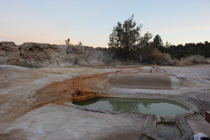Travertine Hot Springs Trip Report
