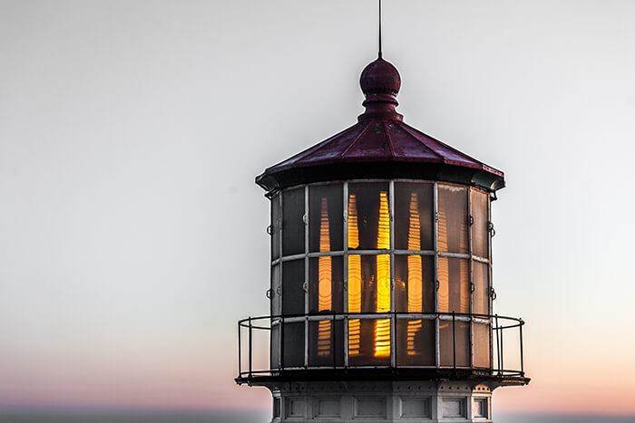Point Reyes National Seashore Lighthouse at Sunset