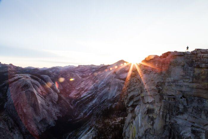Yosemite National Park Half Dome at Sunrise Hike