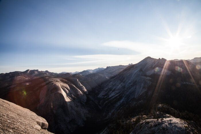 Yosemite National Park Half Dome at Sunrise Hike