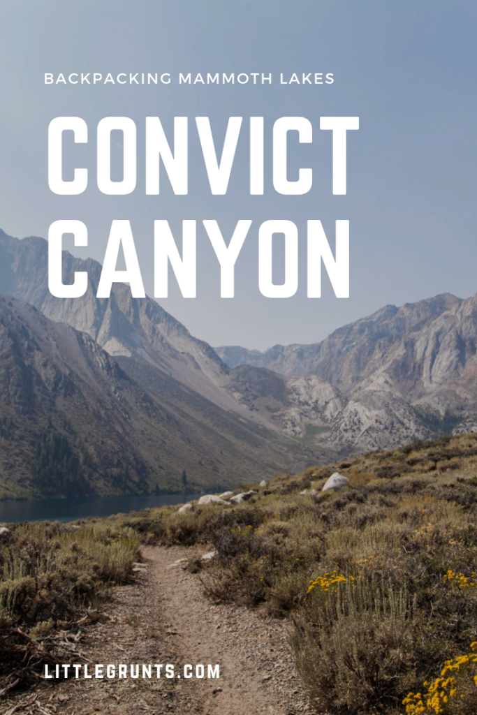 Backpacking to Convict Canyon Mildred Lake