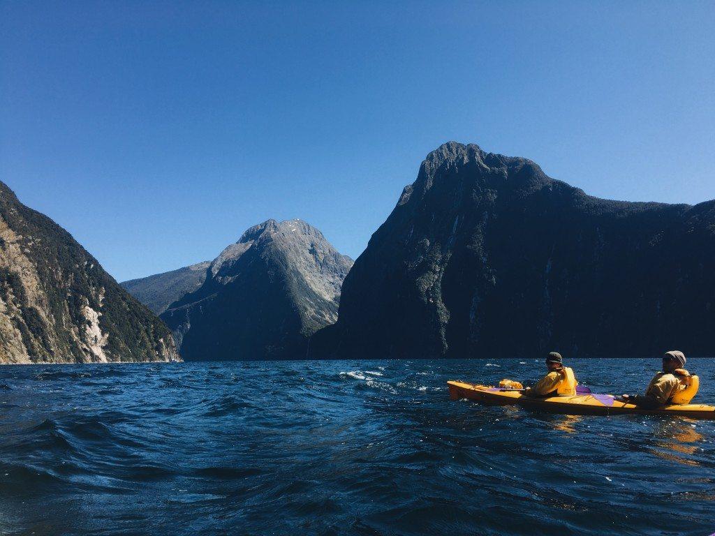 Kayaking Milford Sound Roscoes Milford Kayaks