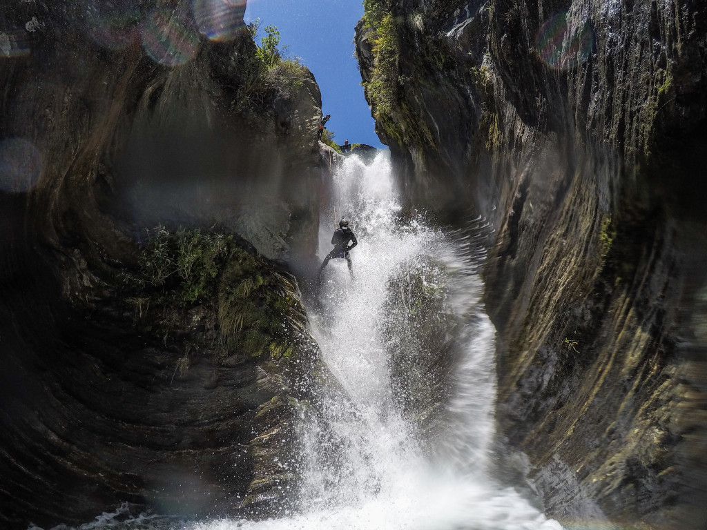 Canyoning Niger Stream Deep Canyon Wanaka
