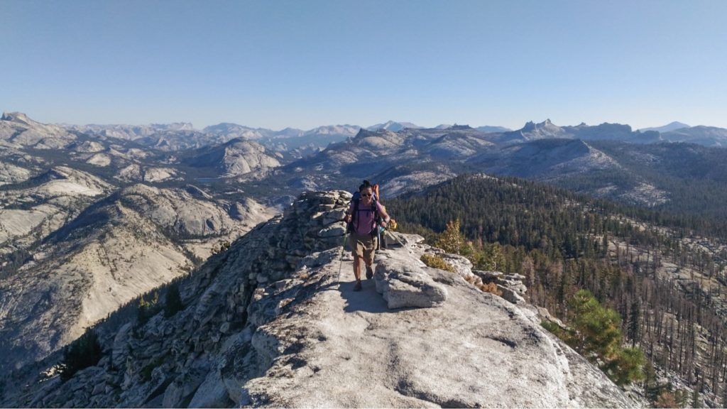 Oshie Magturo finishing up the JMT on Clouds Rest, Yosemite National Park, CA, the diversity dilemma in outdoor media