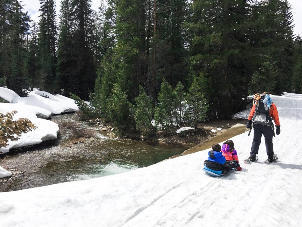 Snowshoeing Lake Alpine with Chasqui Mom, the diversity dilemma in outdoor media