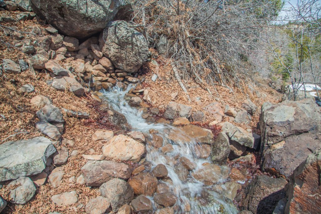 Water Sources along the Trans Zion Trail March Conditions 2017