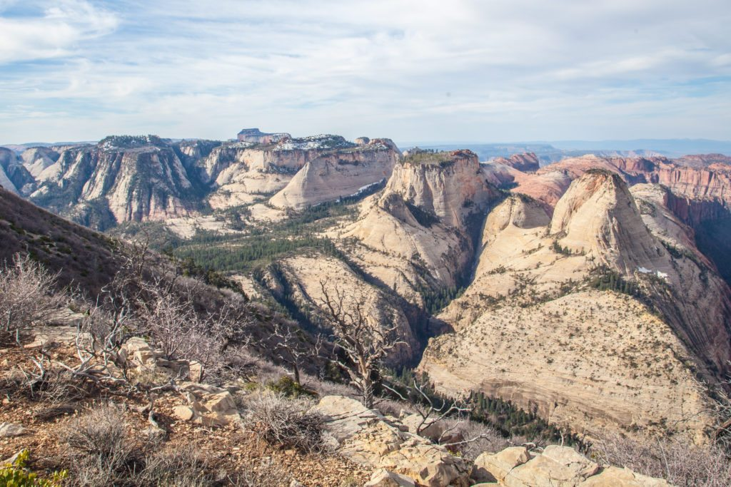 Backpacking the Zion Traverse West Rim March 2017