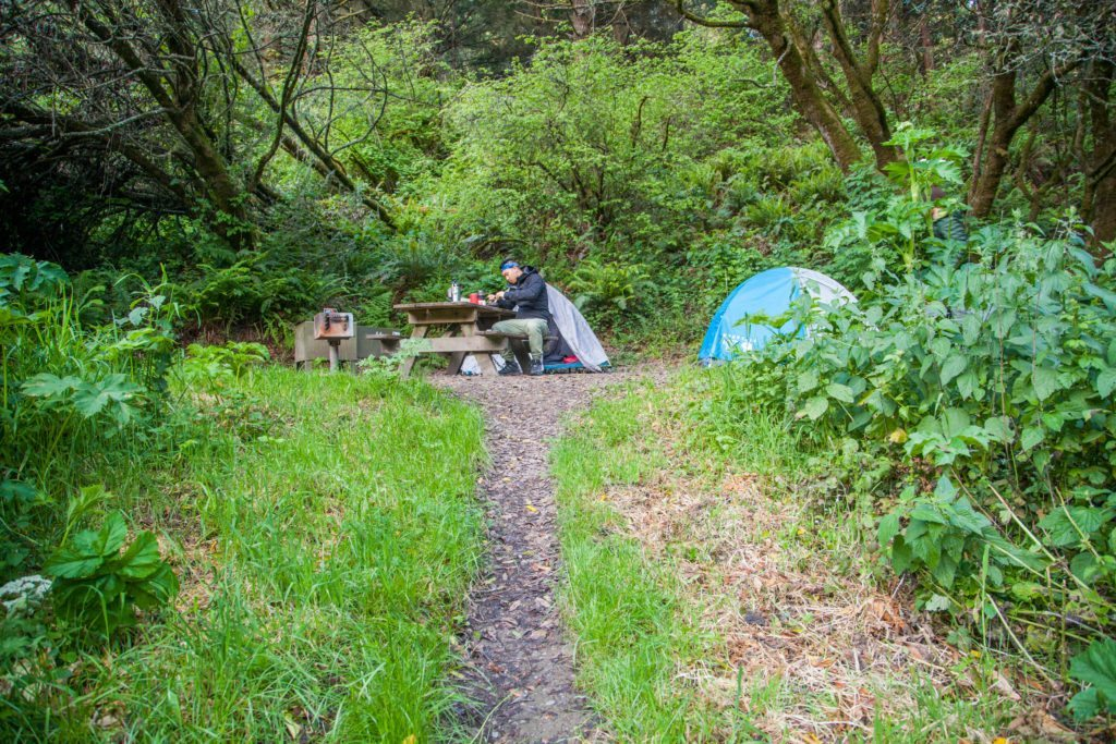 Backpacking Point Reyes Glen Camp