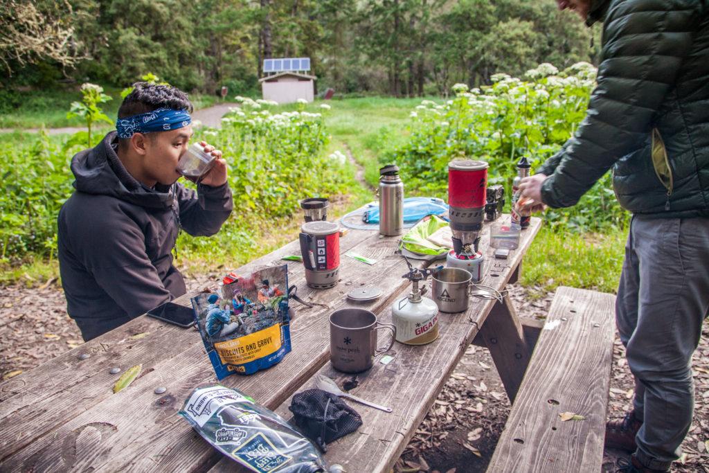Backpacking Point Reyes Glen Camp