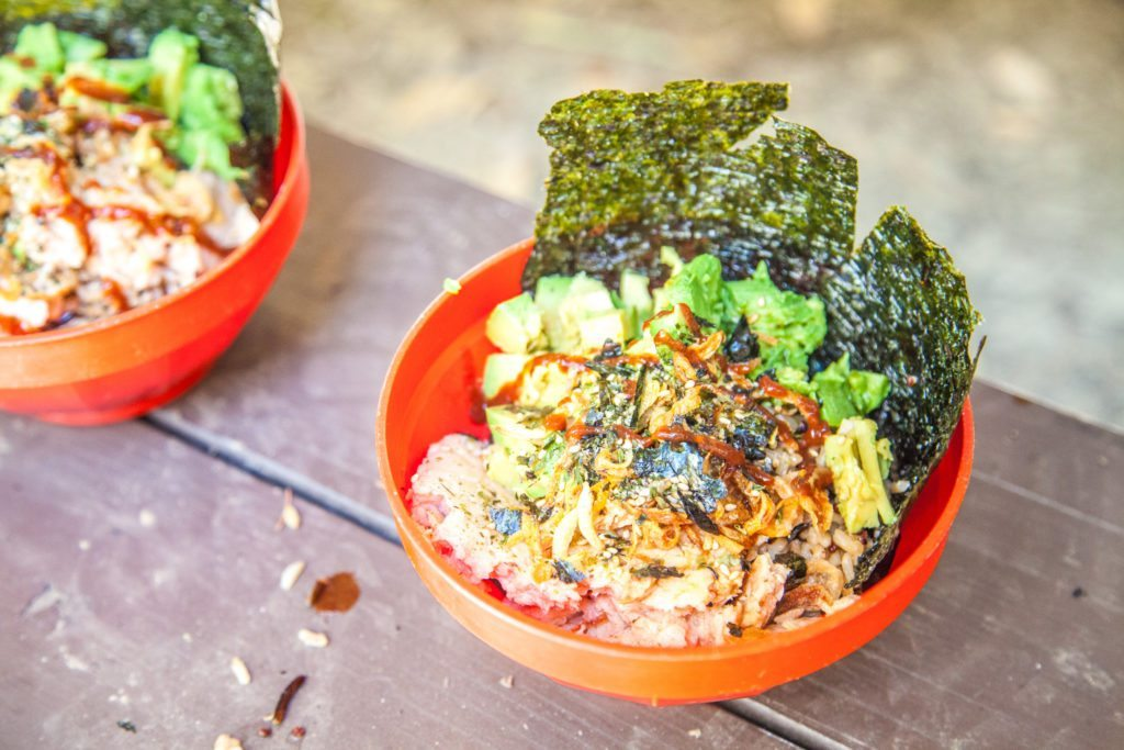 Salmon Rice Bowl Camp Backpacking Recipe