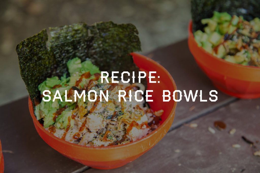 Salmon Rice Bowl Backpacking Camp Recipe