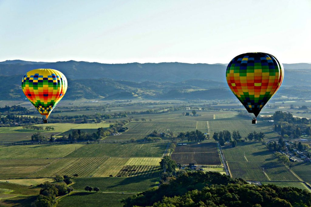 Napa Valley Aloft Hot Air Balloon Bay Area Experiences