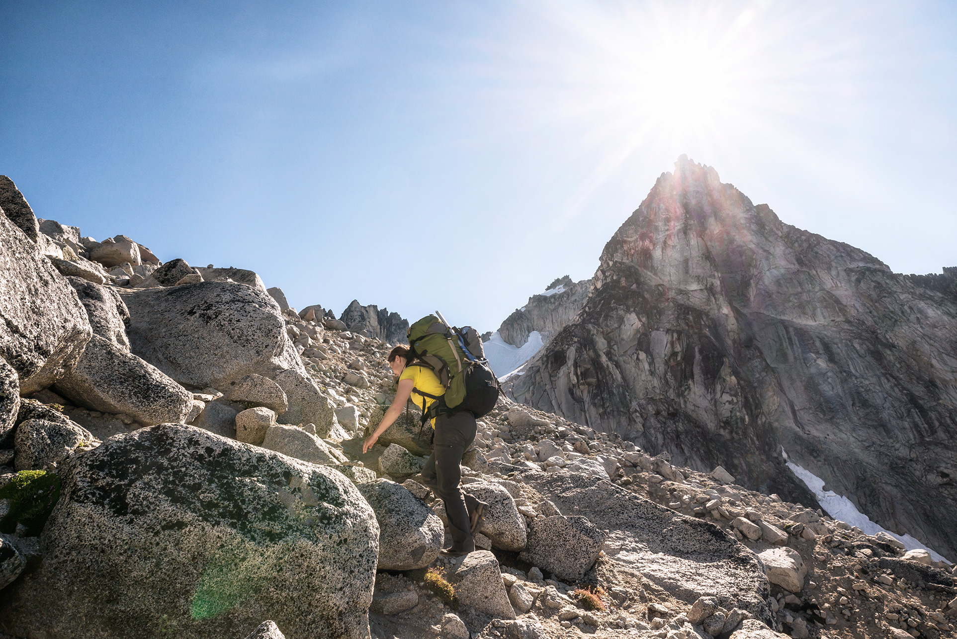 Climbing Prusik Peak