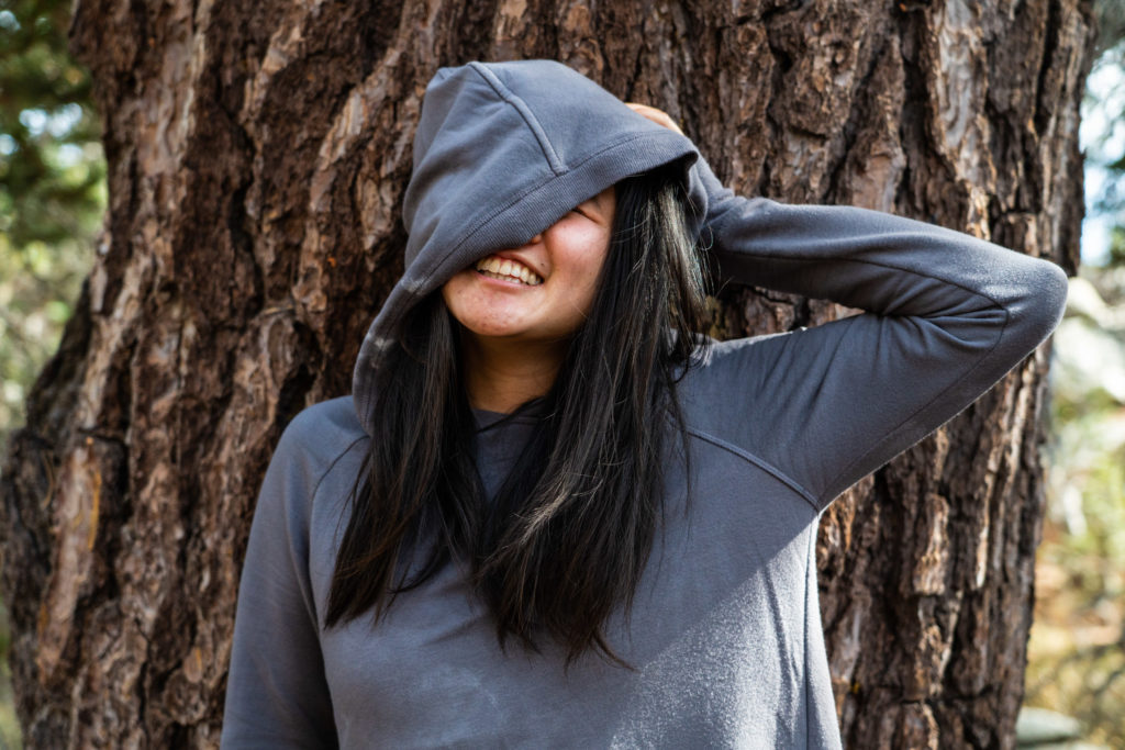 Athleta sustainable b corp criss cross hoodie review