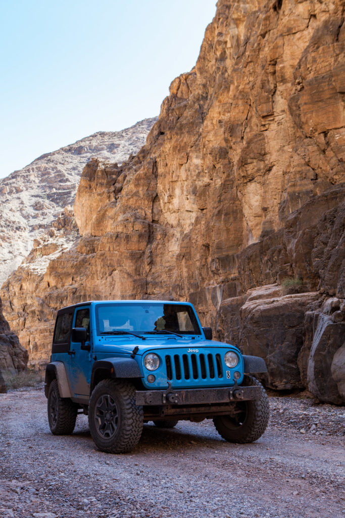 Renting a Jeep in Death Valley