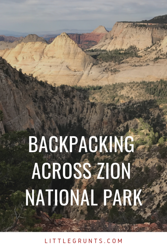Backpacking Zion National Park