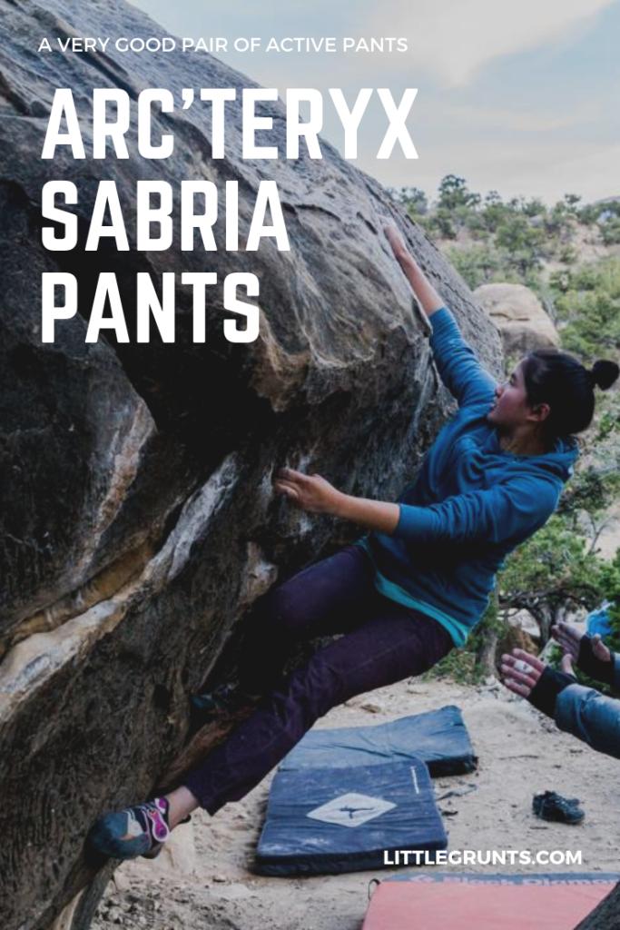 Arc'teryx Sabria Pant Review