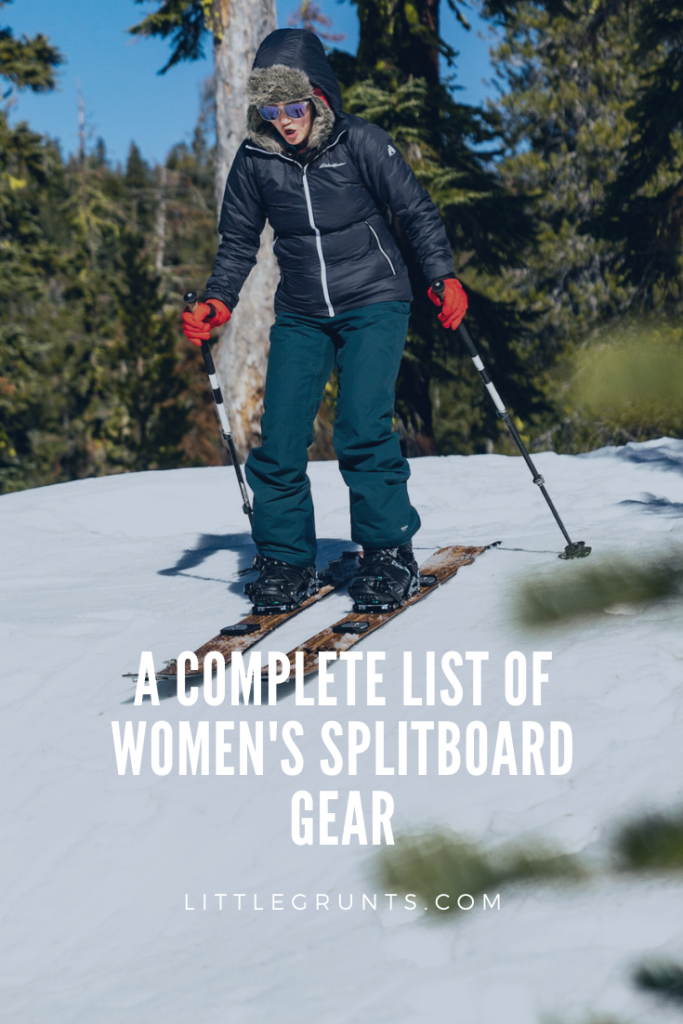 Women's Splitboards and Gear